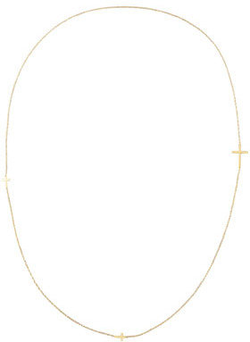 "Jennifer Zeuner Jewelry Integrated Cross Necklace, 36""L"
