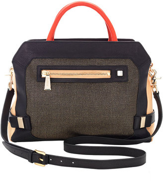 Botkier Honore Cowhide & Canvas Satchel