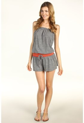 Lucky Brand Fiesta Fever Romper (Heather) - Apparel