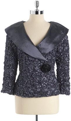 Cachet Shawl Collar Sequin Jacket