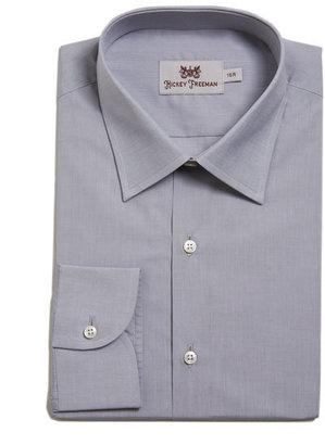 Hickey Freeman Trace-Fit Dress Shirt, Light Gray