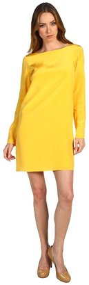Tibi Solid Silk Shift Dress (Gold) - Apparel