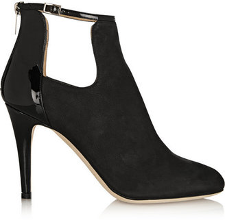 Jimmy Choo Livid nubuck and patent-leather ankle boots