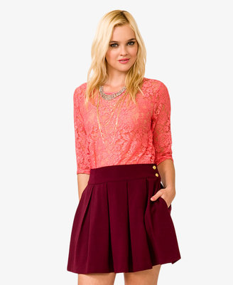 Forever 21 Floral Pattern Lace Top