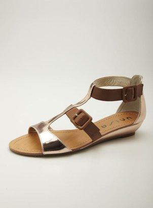 Unisa Sliver Wedge T-Strap Sandal