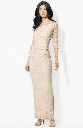 Lauren Ralph Lauren Bateau Neck Lace Dress