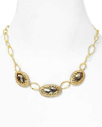 Alexis Bittar Siyabona Fern Gold Encrusted Triple Link Necklace, 18""