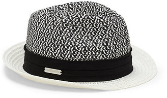 Vince Camuto Patterned Crown Straw Fedora