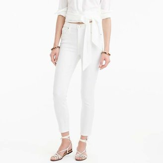 """J.Crew 9"""" Lookout High-Rise Crop Jean In White"""