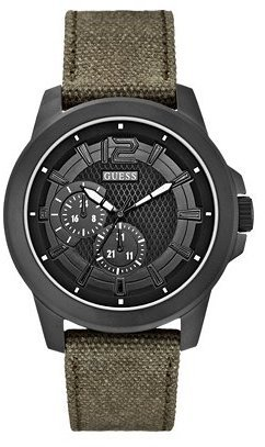 GUESS Olive Green Masculine Active Sport Watch