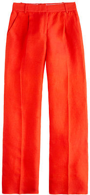 J.Crew Hutton trouser in raw silk