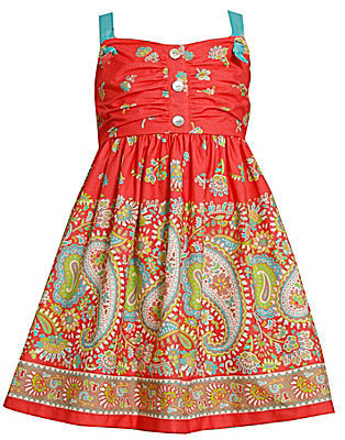 Bonnie Jean 4T-6X Shirred-Front Printed Sundress