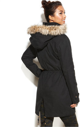 Rachel Roy Coat, Hooded Faux-Fur-Trim Anorak