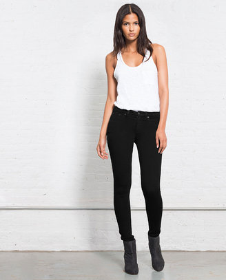 Rag and Bone High Rise Skinny - Blackout
