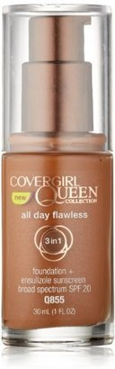COVERGIRL Queen Collection All Day Flawless Foundation Spicy Brown Q855, 1 Oz $9.35 thestylecure.com