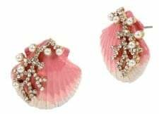 Betsey Johnson Goldtone, White Faux Pearl Crystal Stud Earrings