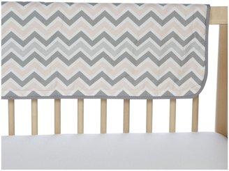 American Baby Company Crib Rail Cover - Blue/Gray Zigzag