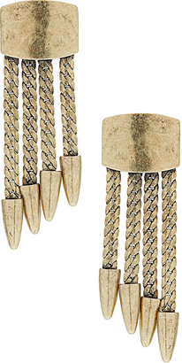 Topshop Square Point Drop Earrings