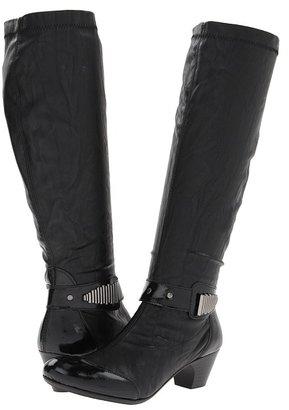 Rieker 70590 Sarah 90 (Schwarz/Schwarz Krepplack/Golm) - Footwear