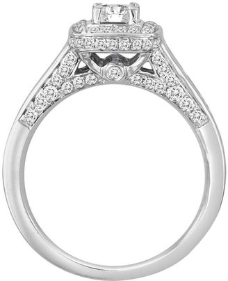 Princess-Cut IGI Certified Diamond Engagement Ring Set in 14k White Gold (1 ct. T.W.)