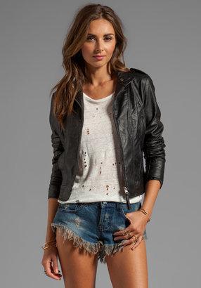 BB Dakota Bowen Dry Crinkle Faux Leather Jacket