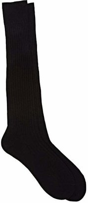 Barneys New York Men's Rib-Knit Over-The-Calf Socks $34 thestylecure.com