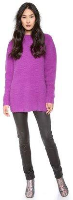 Cynthia Rowley Mock Neck Textured Sweater