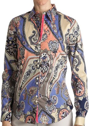 Paperwhite Printed Cotton Shirt - Long Sleeve (For Women)