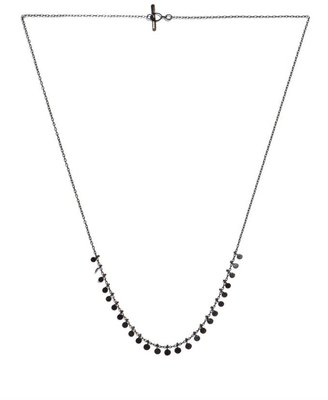 SIA Taylor Ruthenium-plated silver medium dots necklace
