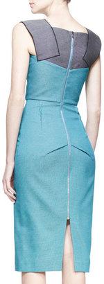 Roland Mouret Atria Two-Tone Pencil Dress