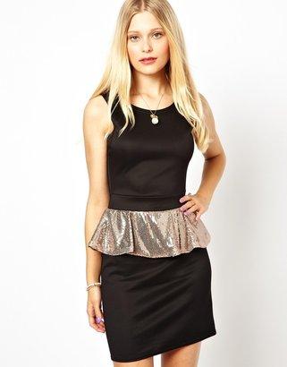 Love Dress with Sequin Peplum