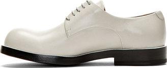 Jil Sander Grey Buffed Leather Derby Shoes