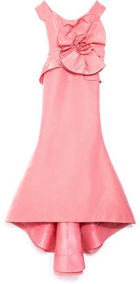 Oscar de la Renta Off Shoulder Rosette Gown