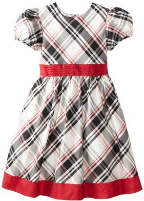 Hartstrings Girls Blend Plaid Dress