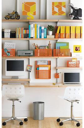 STUDY elfa decor Wall Birch & Platinum