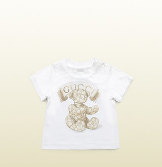 Gucci Baby Cotton T-Shirt With Teddy Print