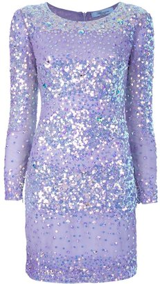 Blumarine sparkly striped dress