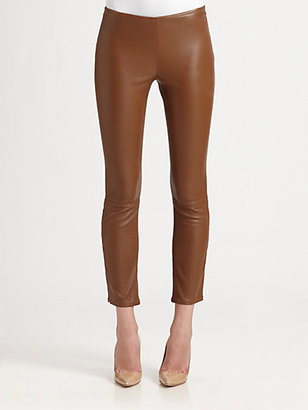 The Row Ellerton Leather Leggings