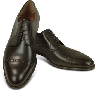 Fratelli Rossetti Dark Brown Calf Leather Cap Toe Oxford Shoes