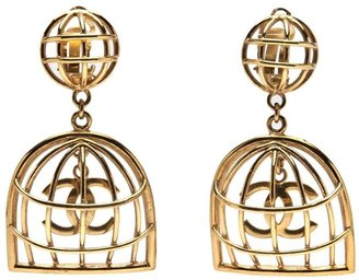Chanel birdcage clip on earring