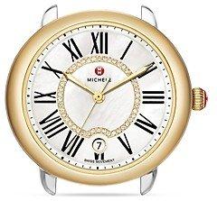 Michele Serein 16 Two Tone Diamond Dial Watch Head, 36 x 34mm