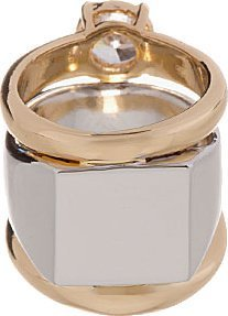 Maison Martin Margiela Gold & Silver Stacked Zirconia Ring