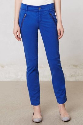 Anthropologie Diamond-Stitched Moto Pants