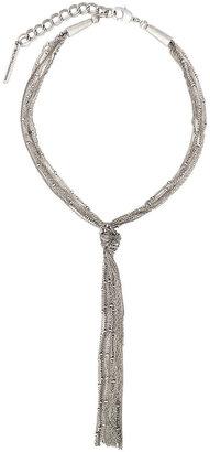 BCBGeneration Necklace, Silver-Tone Fringe Pendant
