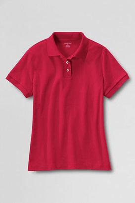 Lands' End Women's Short Sleeve Basic Interlock Polo