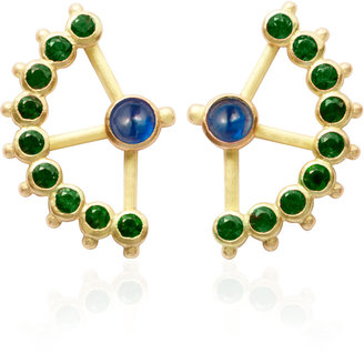 Aimee Aimer Blue Sapphire And Emerald Beija-Flor Earrings