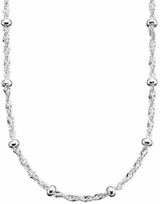 "Giani Bernini Sterling Silver Necklace, 16"" Small Bead Singapore Chain"