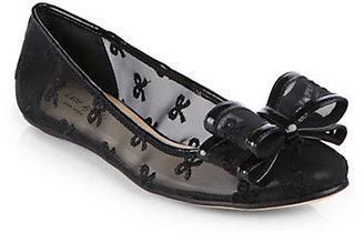 Kate Spade Bernice Mesh & Leather Bow Ballet Flats