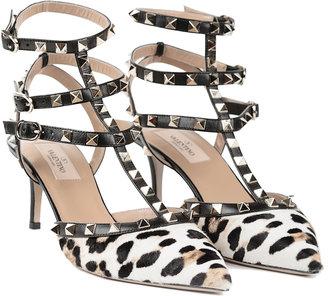 Valentino Rockstud Leopard Pumps