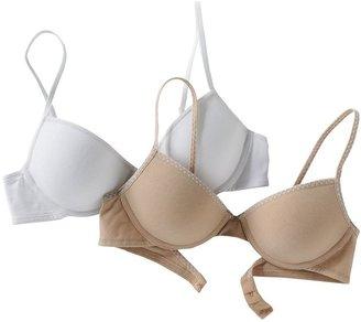 Maidenform 2-pk. solid bras - girls